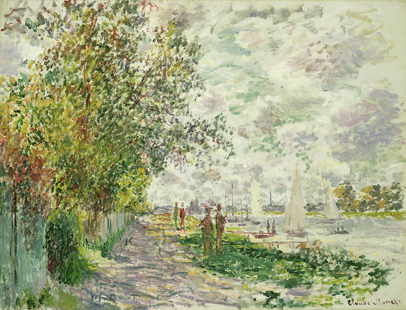 The Riverbank at Gennevilliers, c.1875