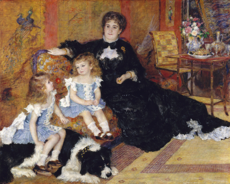 Madame Georges Charpentier and her Children, Georgette and Paul , 1878
