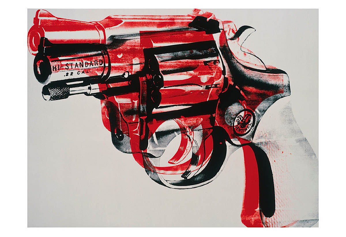 Gun, c. 1981-82 (black and red on white)