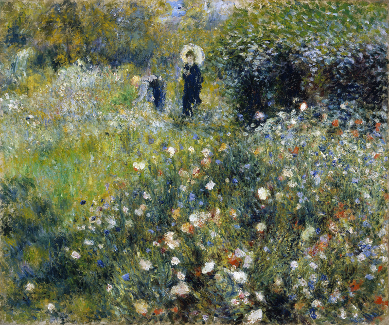 Summer Landscape Aka Woman With A Parasol In A Ga