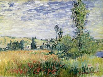 Landscape at Vetheuil, c.1880