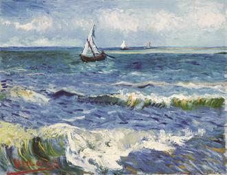 Seascape near Les Saintes-Maries-de-la-Mer