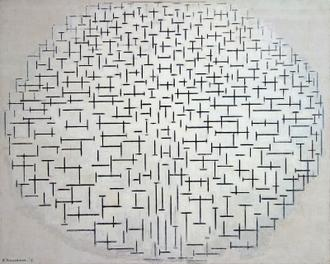 Otterloo Kroller Muller Mondrian Composition 10 Noir Et Blanc