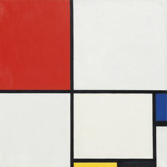 Composition No.III, with Red, Blue, Yellow and Black,1929