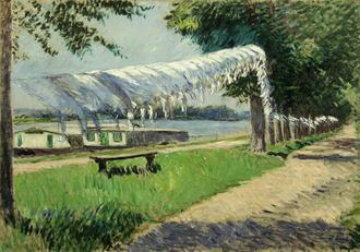 Trocknende Waesche am Ufer der Seine, 1892