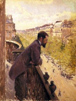 Man on a Balcony, 1880