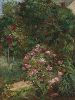 Massiv de fleurs, jardin du Petit Gennevilliers