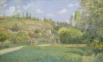 A Cowherd at Valhermeil, Auvers-sur-Oise, 1874
