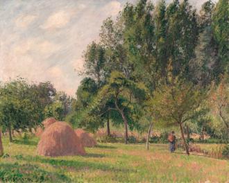 Haystacks, Morning, Eragny