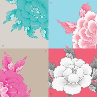꽃다발 Misty Raspberry