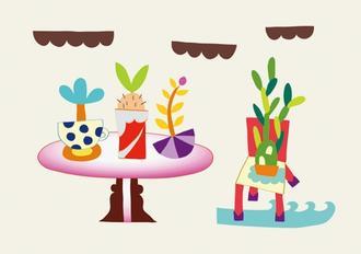 4개의 화분 4 Flowerpots