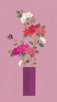 꽃병 봄_분홍