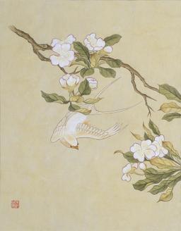 신사임당 (화조도 12폭 흰제비와 배꽃)