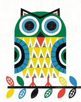 Folk Lodge Owl