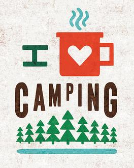 Happy Camper Love Camping