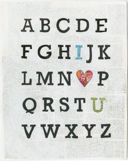 Alphabet on Print
