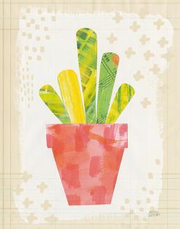 Collage Cactus VI on Graph Paper