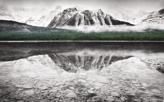 Waterfowl Lake I BW with Color