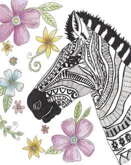 Tribal Zebra Portrait