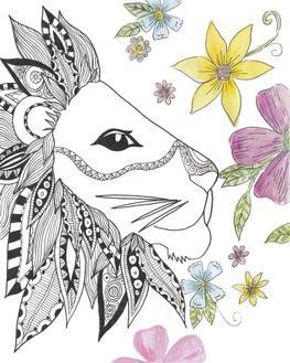 Tribal Lion Portrait