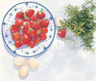 Strawberries and Rosemary
