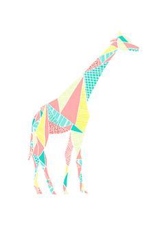 Pastel Colorpoly Giraffe