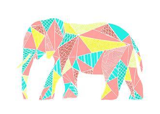 Colorpoly Pastel Elephant