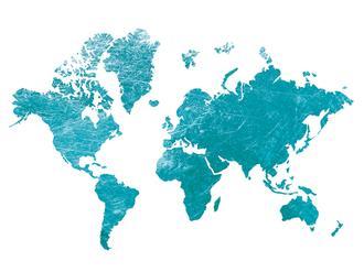 Blue Foil Map
