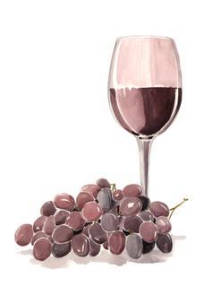 Wine Watercolor I