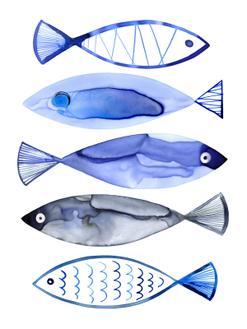 Retro Watercolour Fish