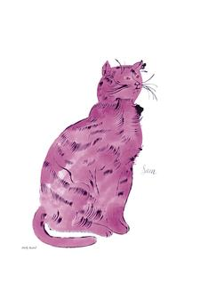 Cat From 25 Cats Named Sam and One Blue Pussy, c.1954 (Pink Sam)