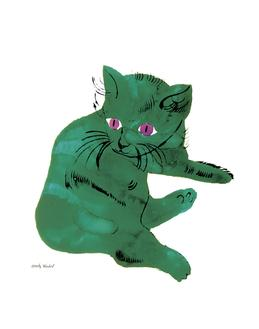 Cat From 25 Cats Named Sam and One Blue Pussy , c. 1956 (Green Cat)