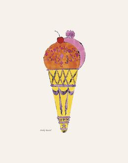 Ice Cream Dessert, c. 1959 (red and pink)