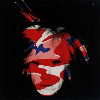 Self-Portrait, 1986 (red, white and blue camo)
