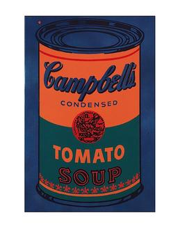 Colored Campbell's Soup Can, 1965 (blue & orange)