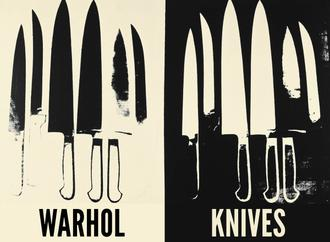 Knives, c. 1981-82 (cream and black)
