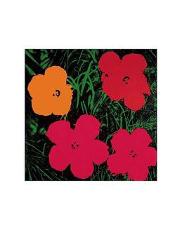 Flowers, 1964 (1 red, 1 yellow, 2 pink)