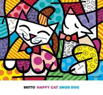 Happy Cat and Snob Dog
