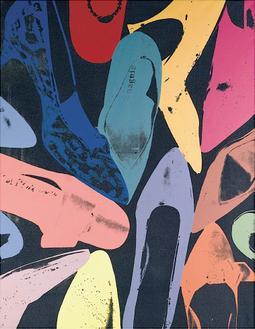 Diamond Dust Shoes, 1980 (lilac, blue, green)