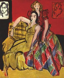 Two Young Women, the Yellow Dress and the Scottish Dress, 1941