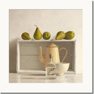 Five Pears on Box