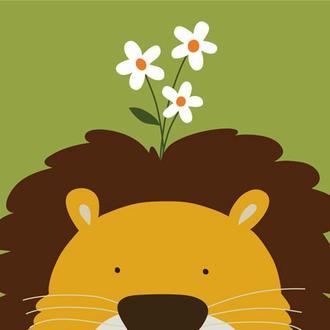 Peek-a-Boo Lion