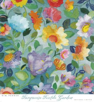 Turquoise Textile Garden