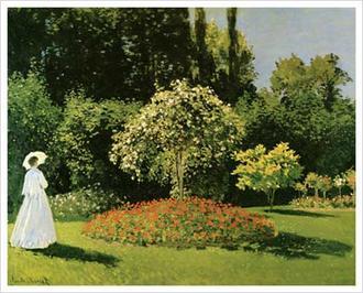 Jeanne Marguerite Lecadre in a Garden, 1867
