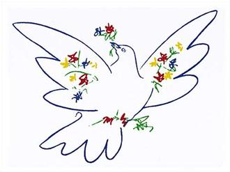 Dove With Flowers