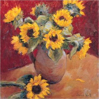 Jug Of Sunflowers