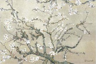 Almond Branches in Tan