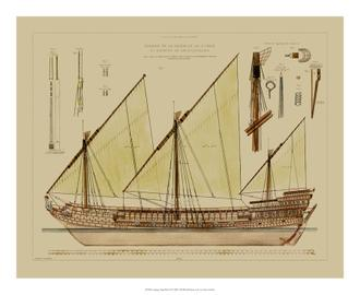 Antique Ship Plan VI