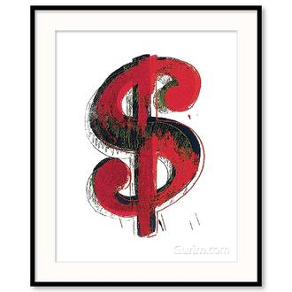 Dollar Sign, 1981 (red)