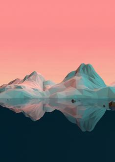 Low Poly Mountain VII